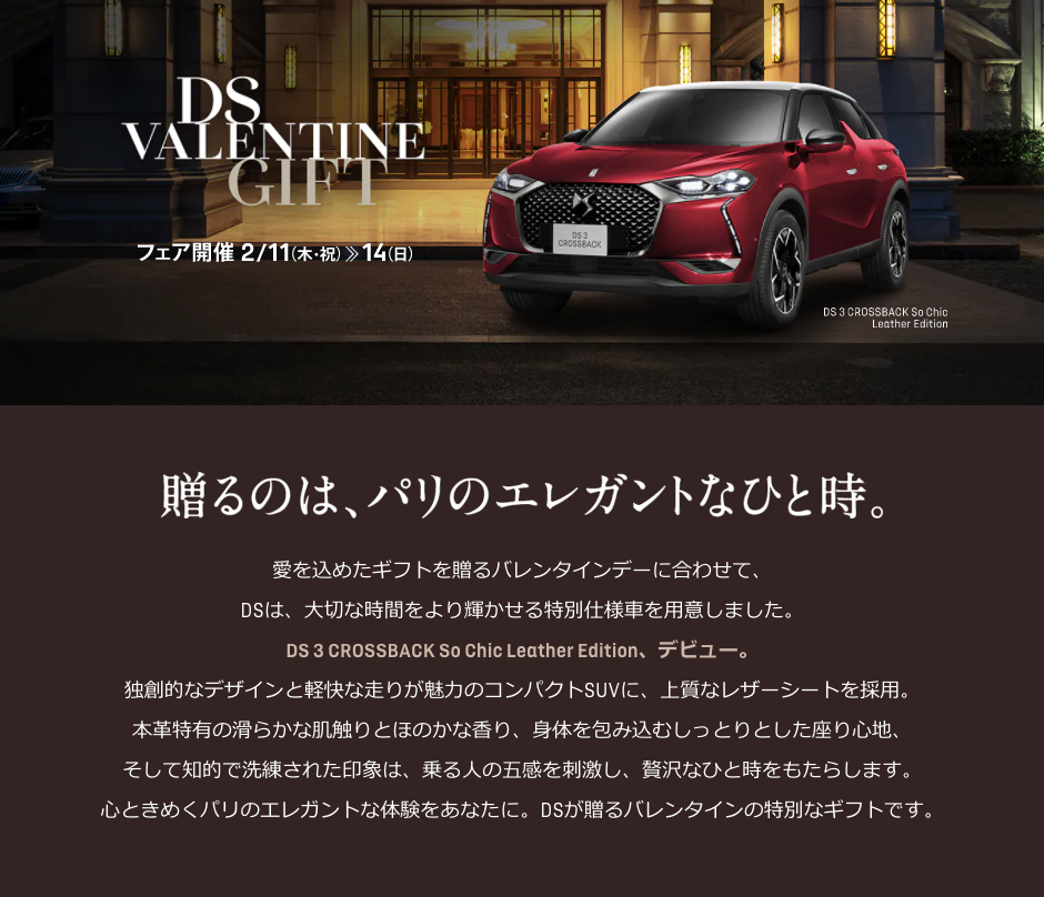 DS VALENTINE GIFT フェア